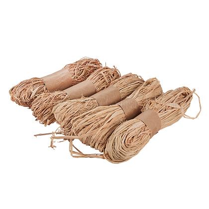 Rafia cuerda naturalPH-DIY-WH0063-11-1