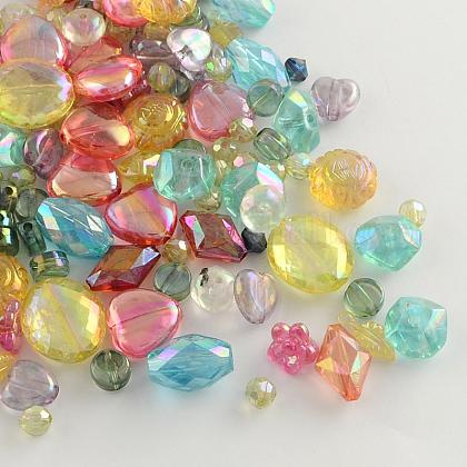 Misto ab-colore perline acriliche trasparentiMACR-R546-23-1