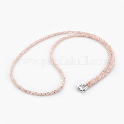 Collares de cadena de malla de latónNJEW-F241-01RG-A-1
