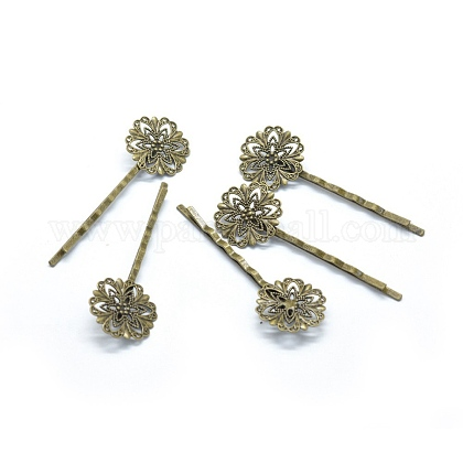 Iron Hair Bobby Pin Findings IFIN-L032-05AB-NF-1