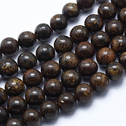 Natural Bronzite Bead StrandsG-P370-05-8mm-1