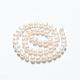 Hebras de perlas de agua dulce cultivadas naturalesA23TC011-3