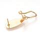 Brass Stud Earring FindingsKK-Q735-141G-2