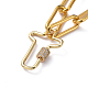 Iron Paperclip Chain NecklacesNJEW-JN02666-01-2