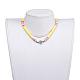 Collares ajustables con cordón de nylon trenzadoNJEW-JN02727-01-4