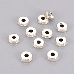 Tibetan Style Spacer Beads, Lead Free & Cadmium Free & Nickel Free, Rondelle, Antique Silver, Size: 8mm in diameter, 3mm thick, hole: 2mm