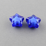 Transparent Acrylic Beads, Bead in Bead, Star, MediumBlue, 12x11x8mm, Hole: 2mm; about 1200pcs/500g