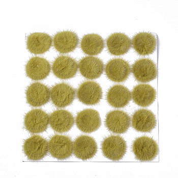 Faux Mink Fur Ball Decoration, Pom Pom Ball, For DIY Craft, DarkKhaki, 4.8~5.5cm; about 25pcs/board