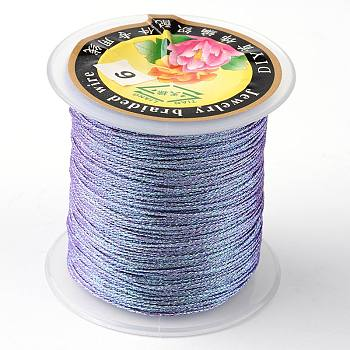 Cuerda metálica redonda, 12 capa, púrpura medio, 1 mm; aproximamente 50 m / rollo