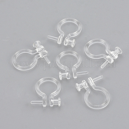 Plastic Clip-on Earring Findings X-KY-S155-05-1