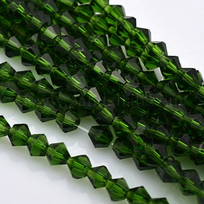 Faceted Bicone Glass Beads StrandsX-EGLA-P017-4mm-11-1