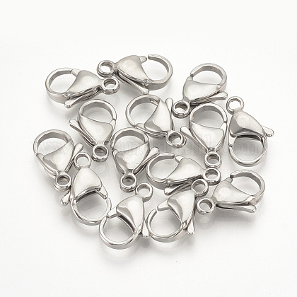 304 Stainless Steel Lobster Claw ClaspsSTAS-T029-12-1