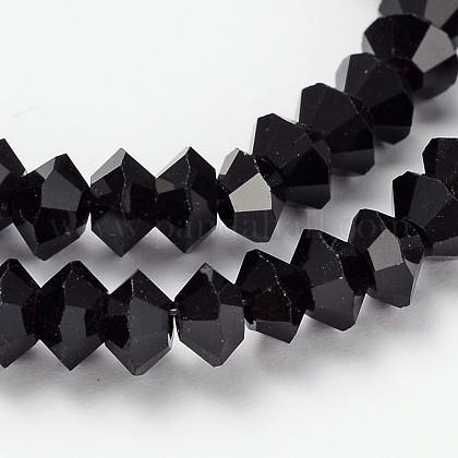 Faceted Bicone Glass Bead StrandsGLAA-J082-A06-1
