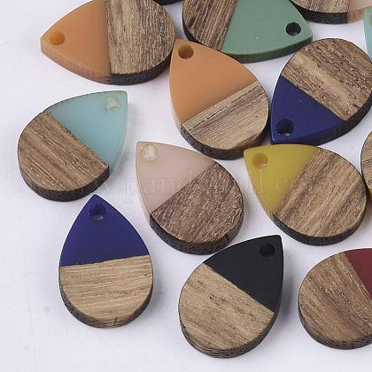 Colgantes de resina y madera de nogalRESI-T042-02-1