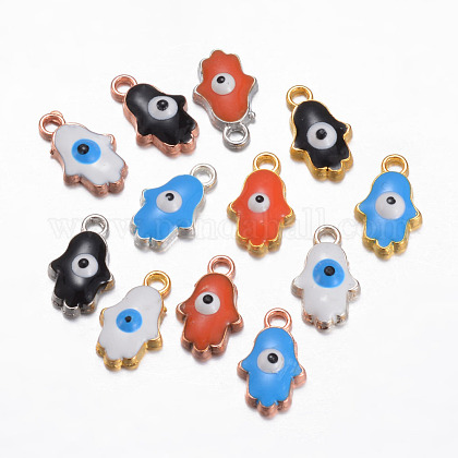 Alloy Enamel Charms X-PALLOY-P101-04-1