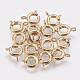 Cierres de anillo de resorte de latónX-KK-Q669-33G-1