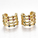 Brass Micro Pave Cubic Zirconia Clip-on Earrings EJEW-S201-53-1