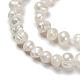 Hebras de perlas de agua dulce cultivadas naturalesPEAR-F007-63-4