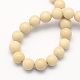 Natural Fossil Round Beads Strands G-S171-6mm-2