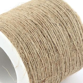 Corde de chanvre, chaîne de chanvre, ficelle de chanvre, 1 plis, pour la fabrication de bijoux, tan, 1 mm; environ 100 m/rouleau