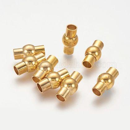 Rack Plating Brass Magnetic ClaspsKK-G230-5mm-G-NF-1