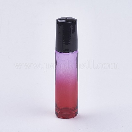 10mlガラスグラデーションカラーエッセンシャルオイルの空のローラーボールボトルMRMJ-WH0011-B04-10ml-1