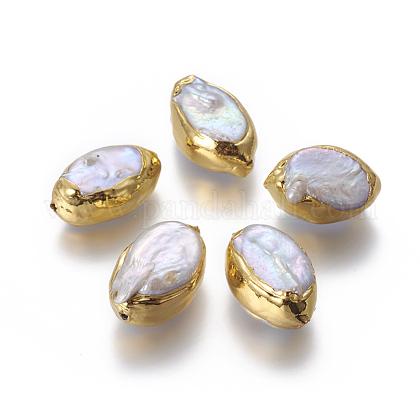 Perlas naturales abalorios de agua dulce cultivadasPEAR-F011-03G-1