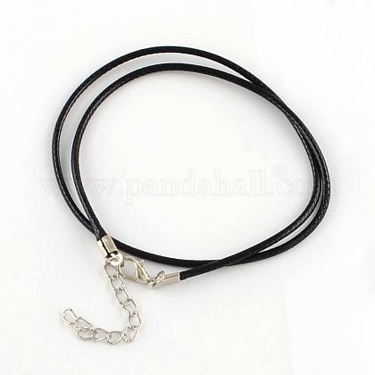 Algodón encerado el collar del cordónMAK-S032-1.5mm-101-1