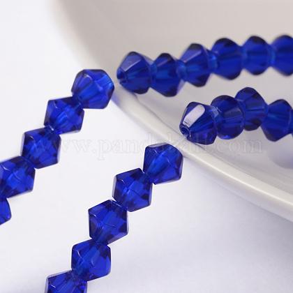 Half-Handmade Transparent Glass Beads StrandsX-GB4mmC24-1