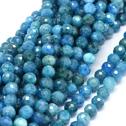 Natural Apatite Beads StrandsG-O180-12-7mm-1