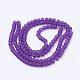Chapelets de perles rondes en verre violet transparent matX-GLAA-S031-6mm-36-3