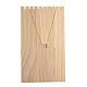木製ネックレスジュエリーネックレスホルダーBDIS-WH0002-04-2