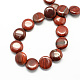 Flat Round Natural Red Jasper Beads Strands X-G-S110-06-2