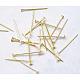 Nickel Free Golden Iron Flat Head PinsX-NFHPG18mm-1