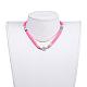 Collares ajustables con cordón de nylon trenzadoNJEW-JN02727-02-4