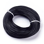 Cowhide Leather Cord, Genuine Leather Strip Cord Braiding String, Black, about 2.0mm thick