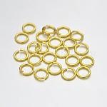 Латунные кольца прыжок открыт, золотые, 23 датчик, 3x0.6 мм; Внутренний диаметр: 1.2 мм; о 22727 шт / 500 г