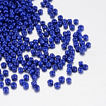 Baking Paint Glass Seed Beads, RoyalBlue, 12/0, 1.5~2mm, Hole: 0.5~1mm, about 30000pcs/bag