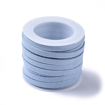 Faux Suede Cord, Faux Suede Lace, Light Blue, 5x1mm; about 5m/roll