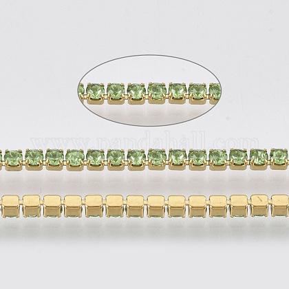 304 acero inoxidable cadena de strass de rhinestoneSTAS-T055-04G-1
