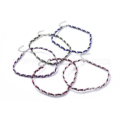 Faux Suede Cord Braided NecklacesNJEW-JN02505-1