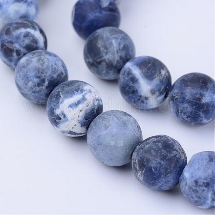 Chapelets de perles en sodalite naturelleG-Q462-6mm-07-1