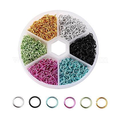 6 Colors Aluminum Wire Open Jump RingsALUM-X0001-01B-1