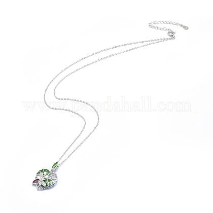 Collares pendientes de plata de ley 925NJEW-F246-12P-1