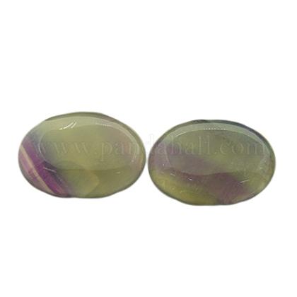 Природные флюорита кабошоныG-I065-25x18mm-1