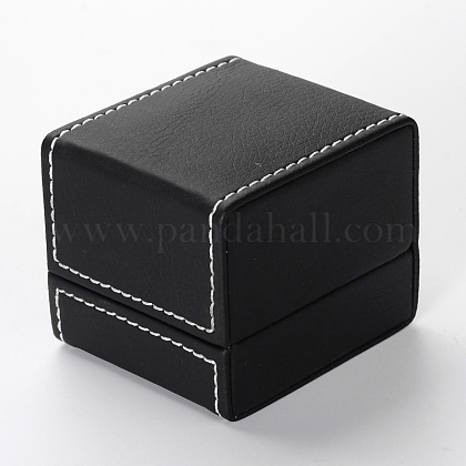 Cajas rectangulares anillo de imitación de cueroLBOX-F001-04-1