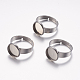 Adjustable 304 Stainless Steel Finger Rings Components STAS-I097-037E-P-1