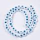 Chapelets de perles vernissées manuellesLAMP-S191-02A-08-1