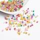 Chapado color mezclado facetas redondas abalorios de acrílico entrepiezasX-PL400-1