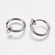 304 Stainless Steel Retractable Clip-on Hoop EarringsSTAS-K171-53P-2